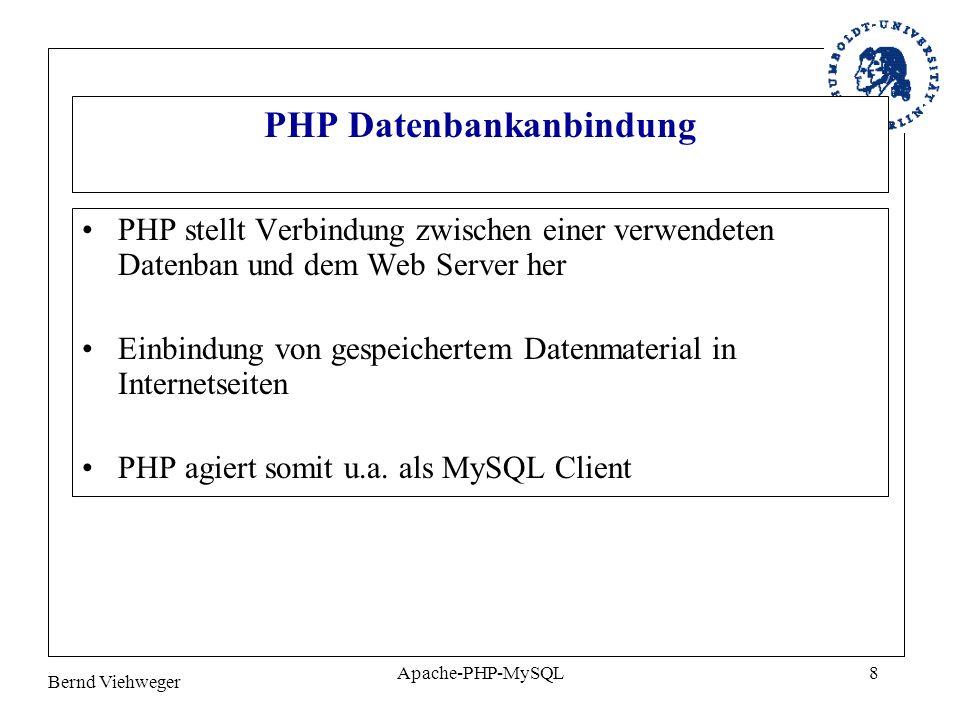 PHP Datenbankanbindung
