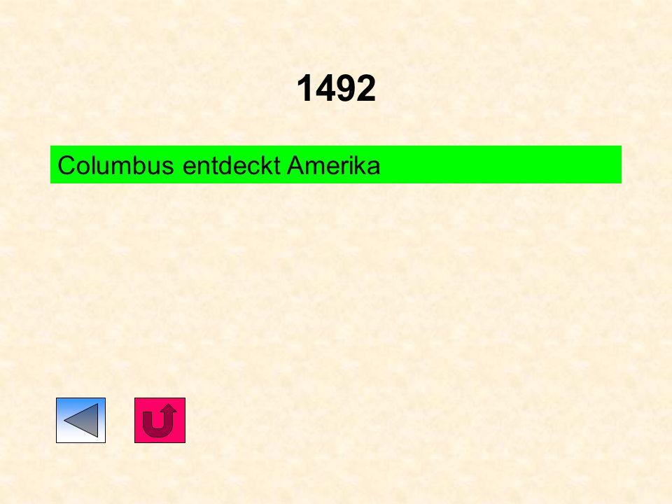 1492 Columbus entdeckt Amerika