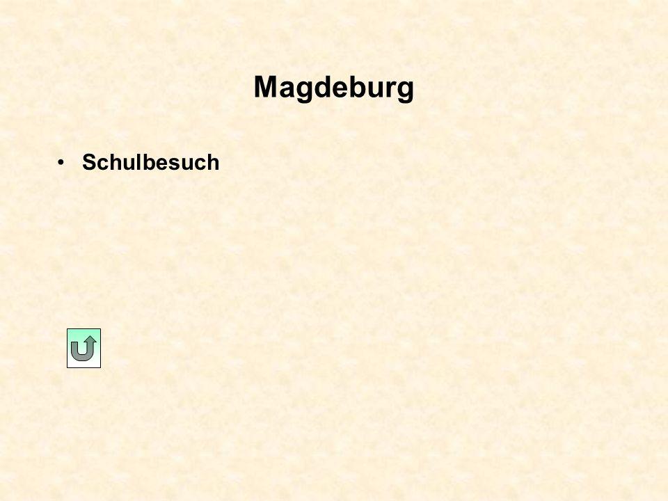 Magdeburg Schulbesuch