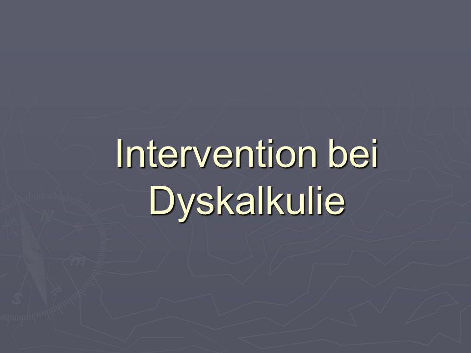 Intervention bei Dyskalkulie