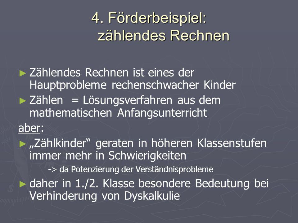 4. Förderbeispiel: zählendes Rechnen