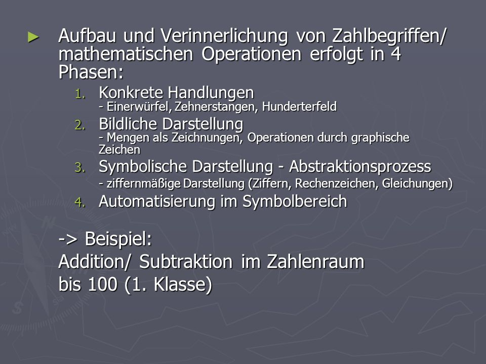 Addition/ Subtraktion im Zahlenraum bis 100 (1. Klasse)