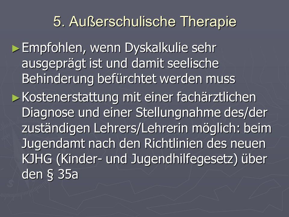 5. Außerschulische Therapie