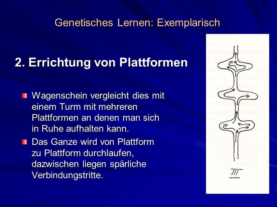 2. Errichtung von Plattformen