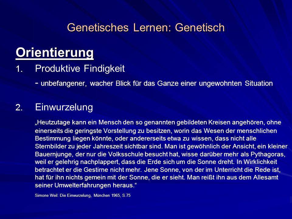 Genetisches Lernen: Genetisch