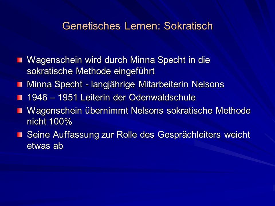 Genetisches Lernen: Sokratisch