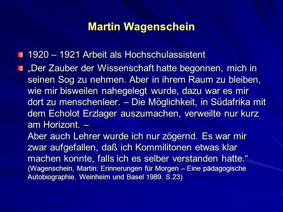 Martin Wagenschein Martin Wagenschein
