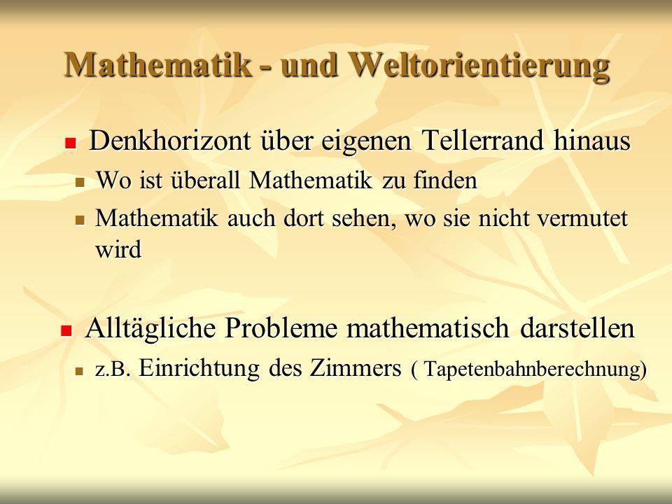 Mathematik - und Weltorientierung