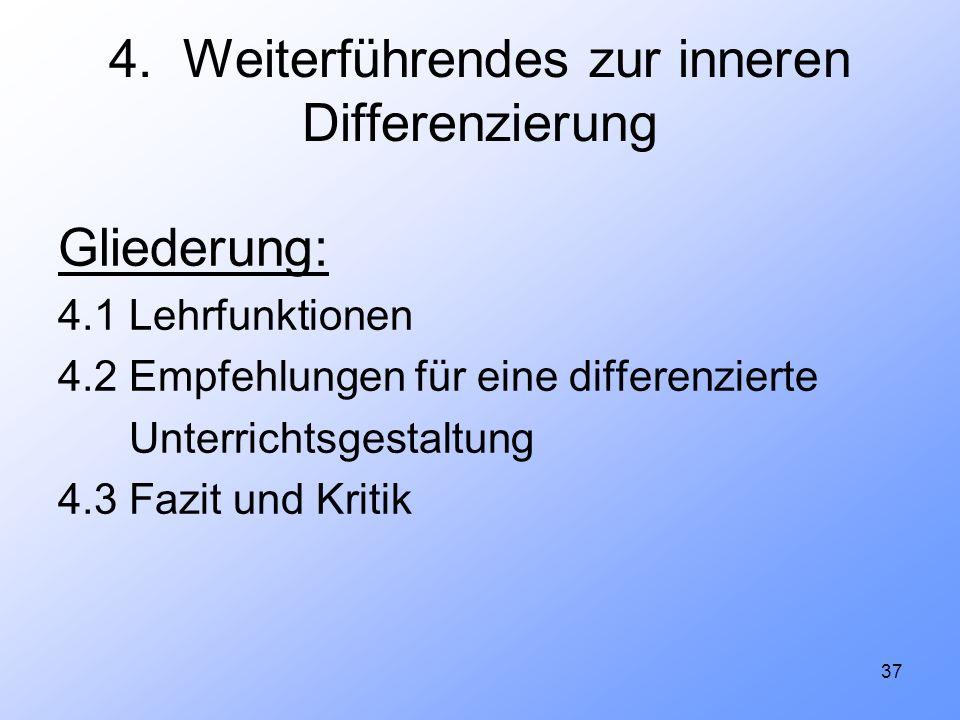 4. Weiterführendes zur inneren Differenzierung