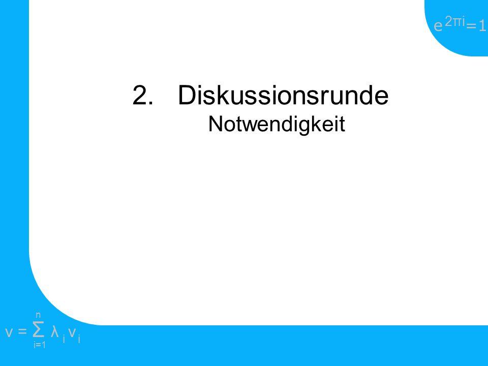 2. Diskussionsrunde Notwendigkeit