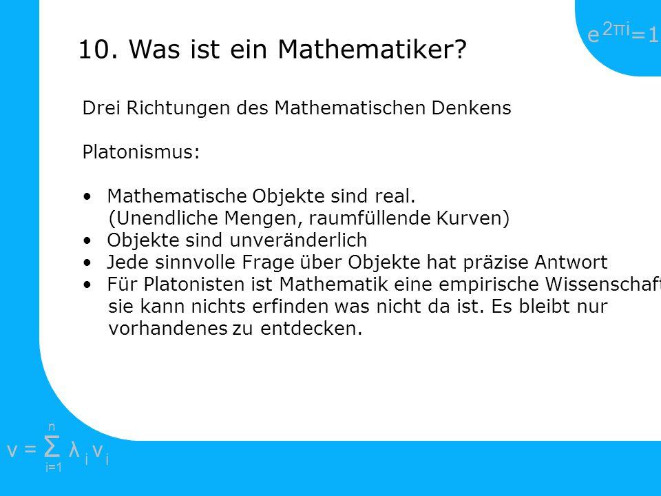 10. Was ist ein Mathematiker