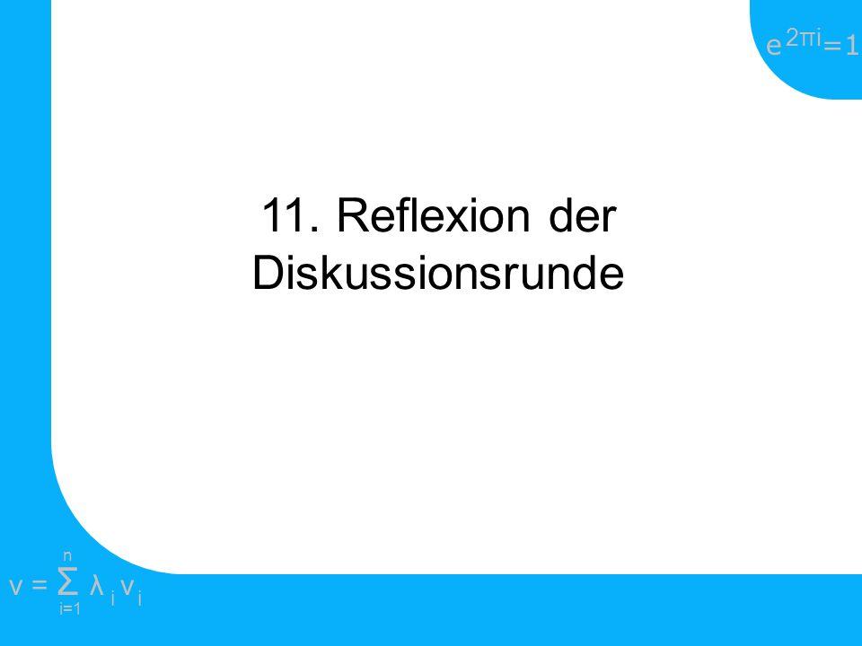 11. Reflexion der Diskussionsrunde