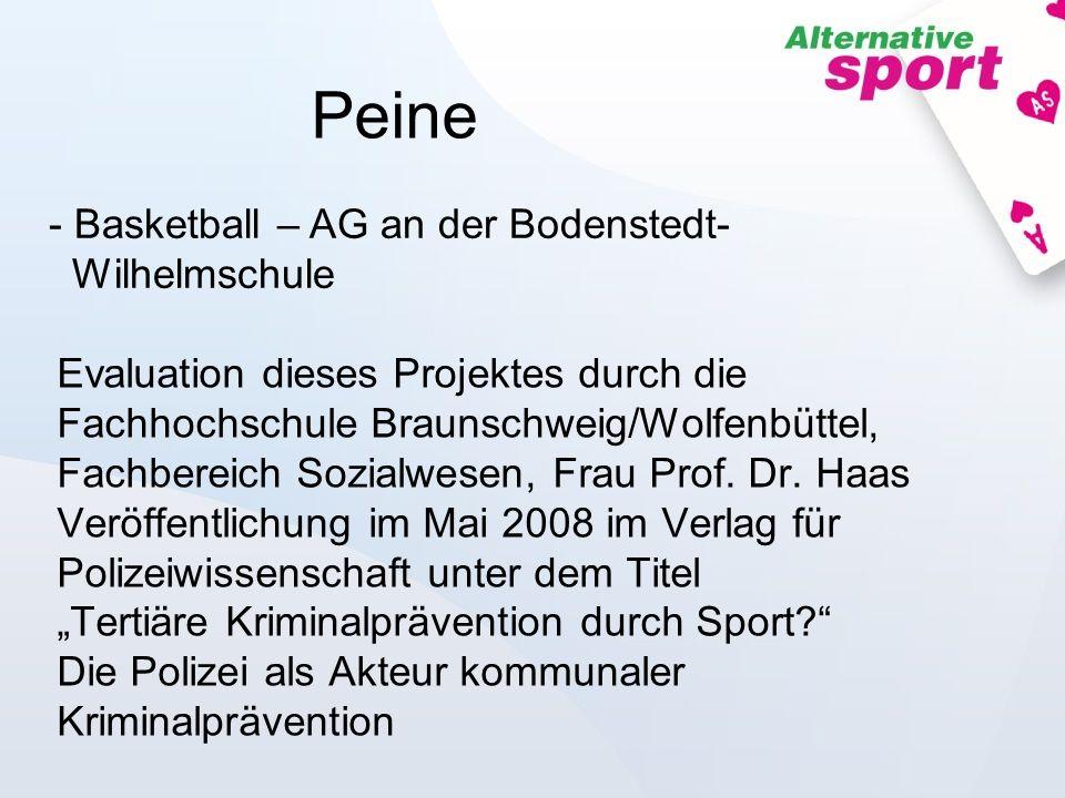 Peine - Basketball – AG an der Bodenstedt- Wilhelmschule