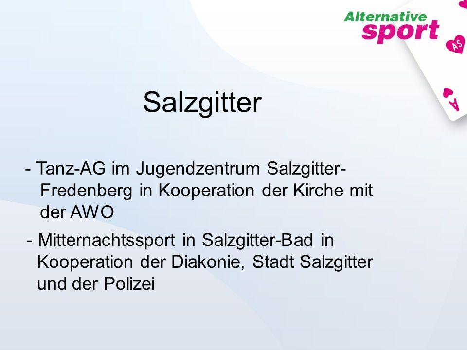 SalzgitterTanz-AG im Jugendzentrum Salzgitter- Fredenberg in Kooperation der Kirche mit der AWO.