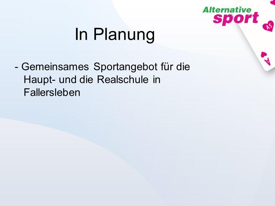 In Planung Gemeinsames Sportangebot für die Haupt- und die Realschule in Fallersleben