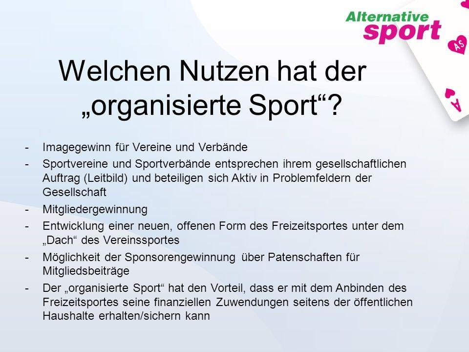 """Welchen Nutzen hat der """"organisierte Sport"""