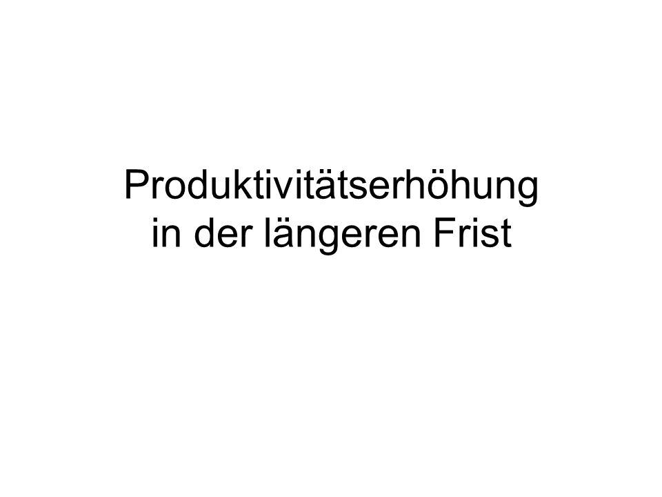Produktivitätserhöhung in der längeren Frist