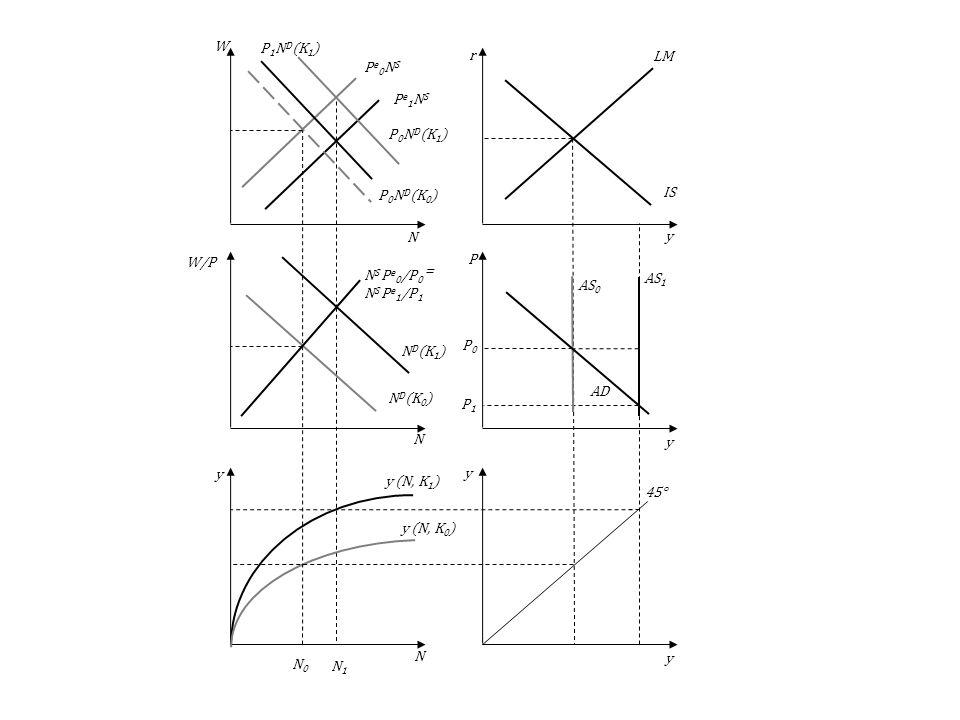 P1Pe1NS. AS1. P0. N0. N1. ND(K1) P0ND(K1) y (N, K1) AS0. AD. LM. IS. 45° y (N, K0) NS Pe0/P0 = NS Pe1/P1.
