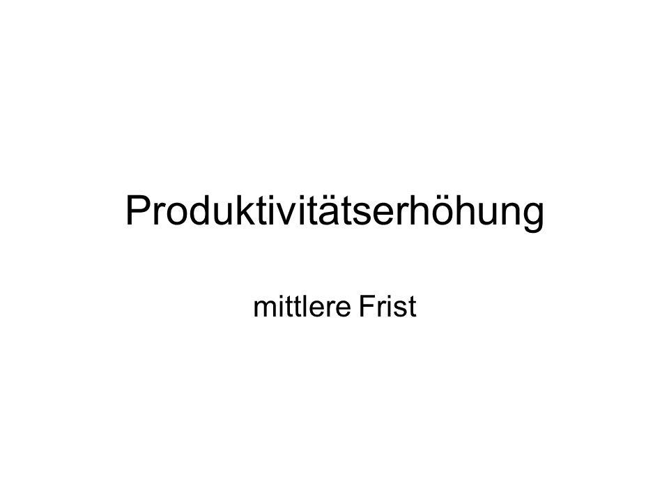 Produktivitätserhöhung
