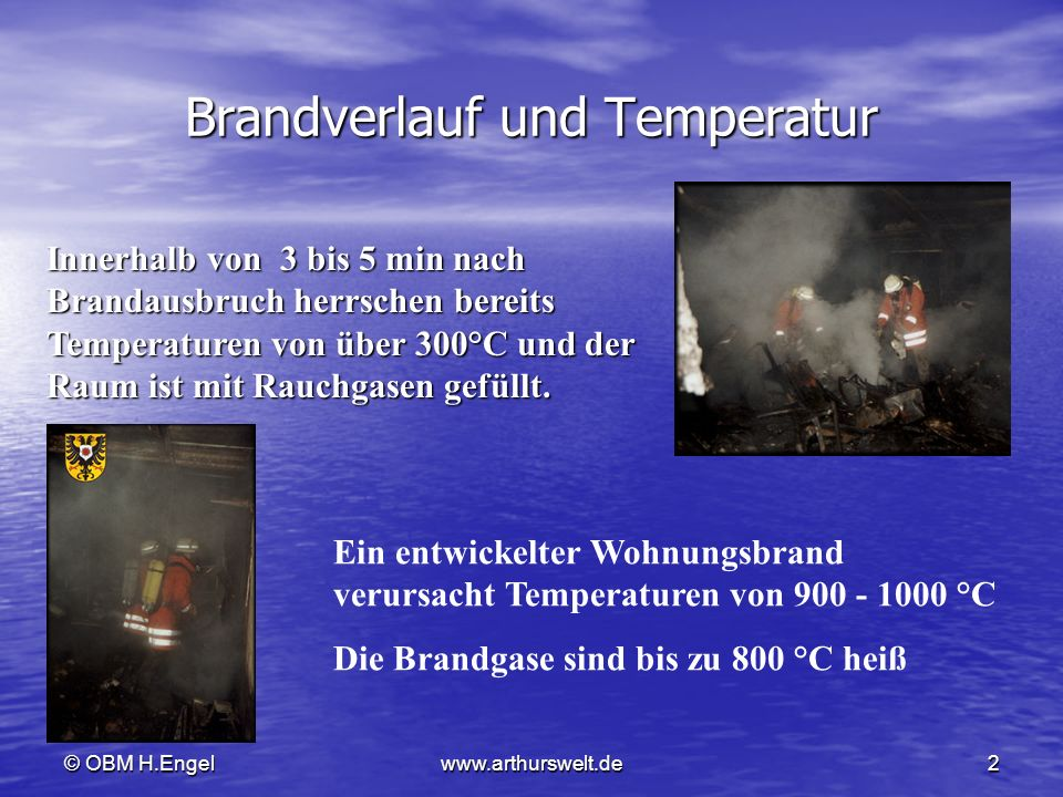 Brandverlauf und Temperatur