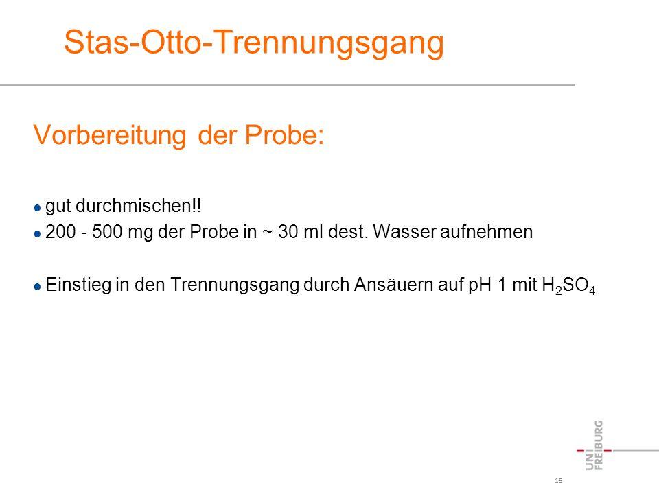 Stas-Otto-Trennungsgang