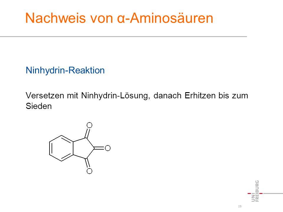 Nachweis von α-Aminosäuren