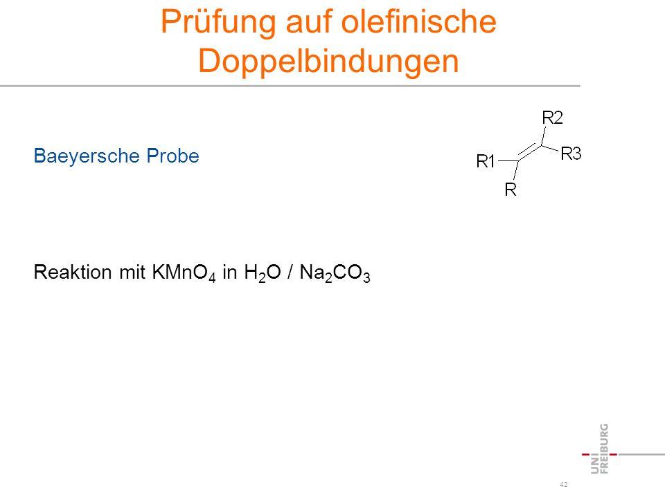 Prüfung auf olefinische Doppelbindungen