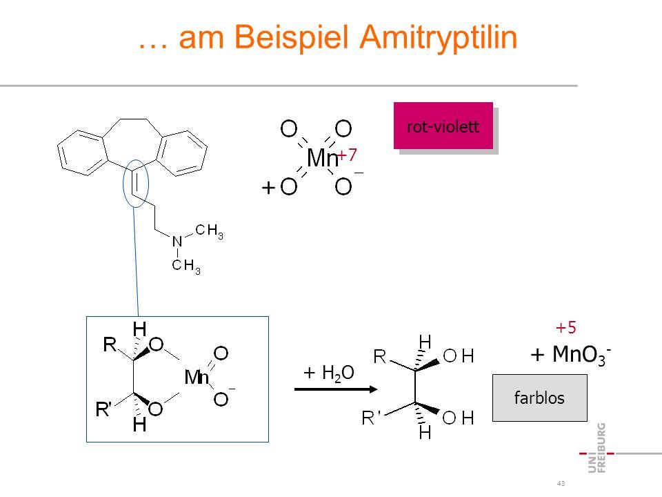 … am Beispiel Amitryptilin