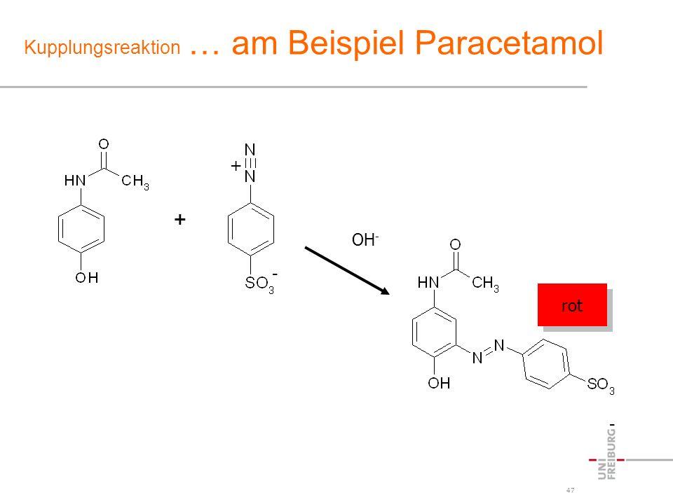 Kupplungsreaktion … am Beispiel Paracetamol