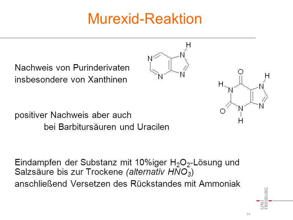 Murexid-Reaktion Nachweis von Purinderivaten
