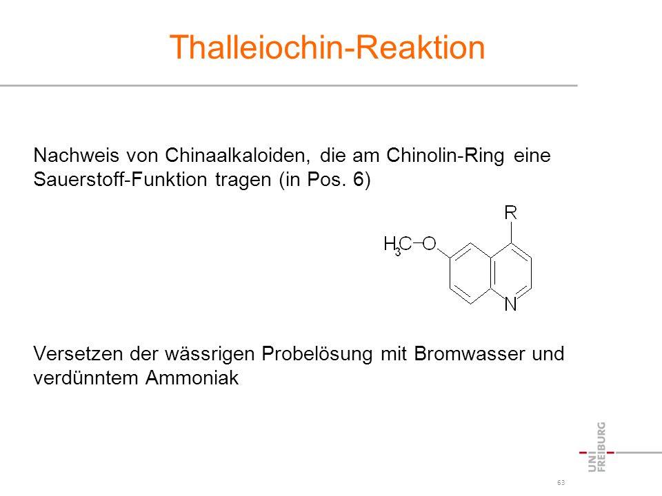 Thalleiochin-Reaktion