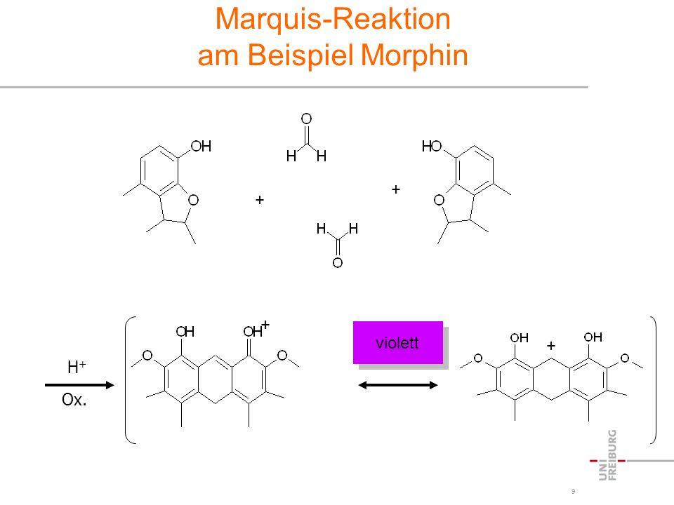 Marquis-Reaktion am Beispiel Morphin