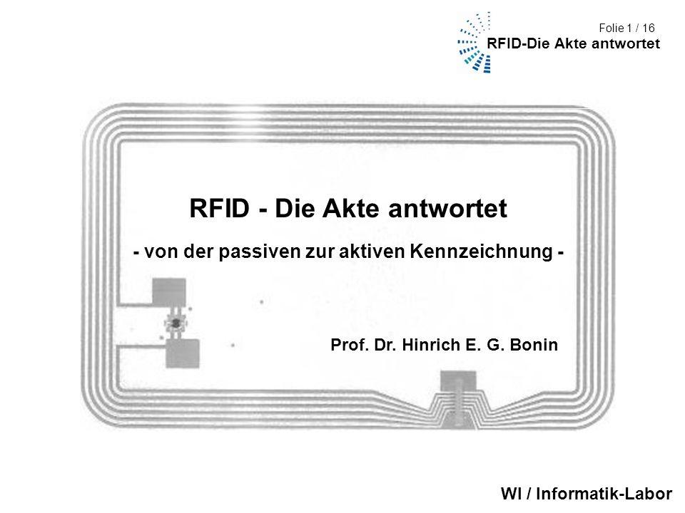 RFID - Die Akte antwortet