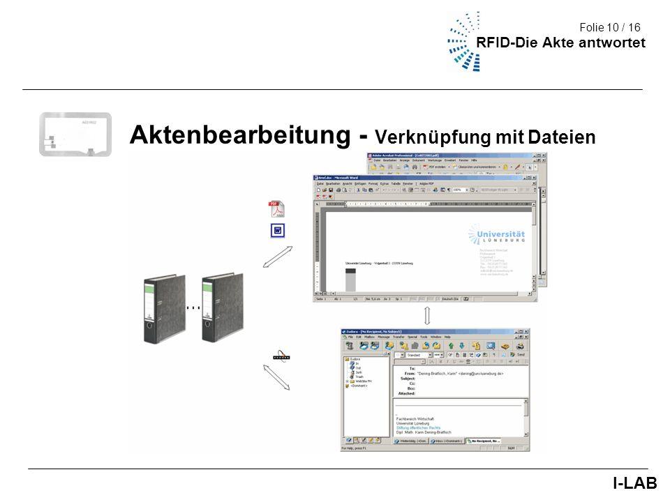 Aktenbearbeitung - Verknüpfung mit Dateien