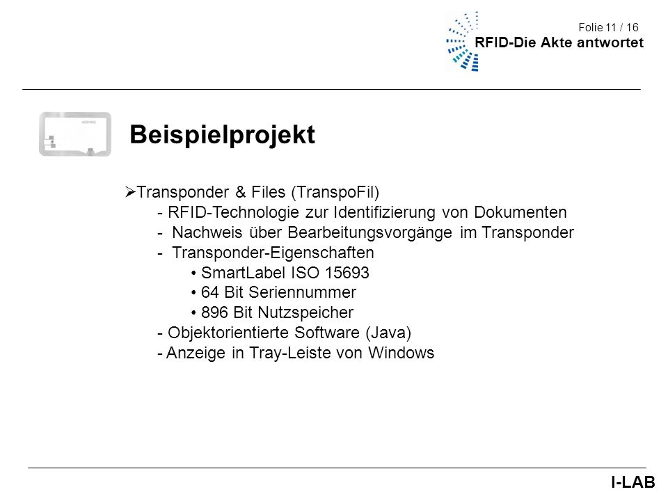 Beispielprojekt Transponder & Files (TranspoFil)