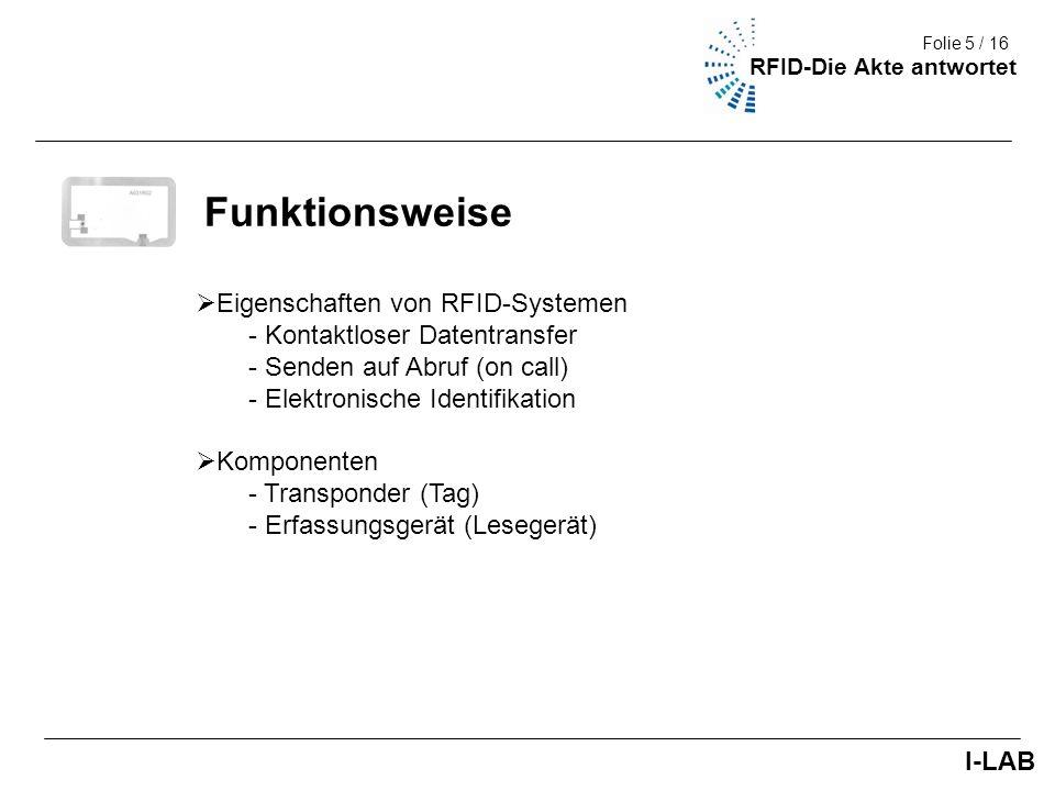 Funktionsweise Eigenschaften von RFID-Systemen