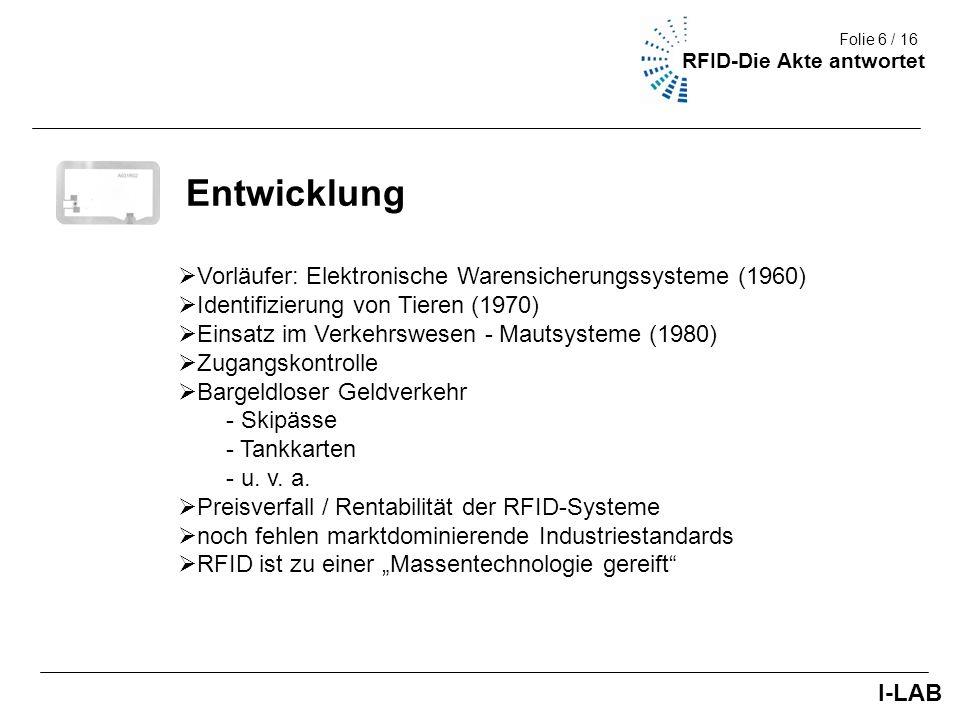 Entwicklung Vorläufer: Elektronische Warensicherungssysteme (1960)