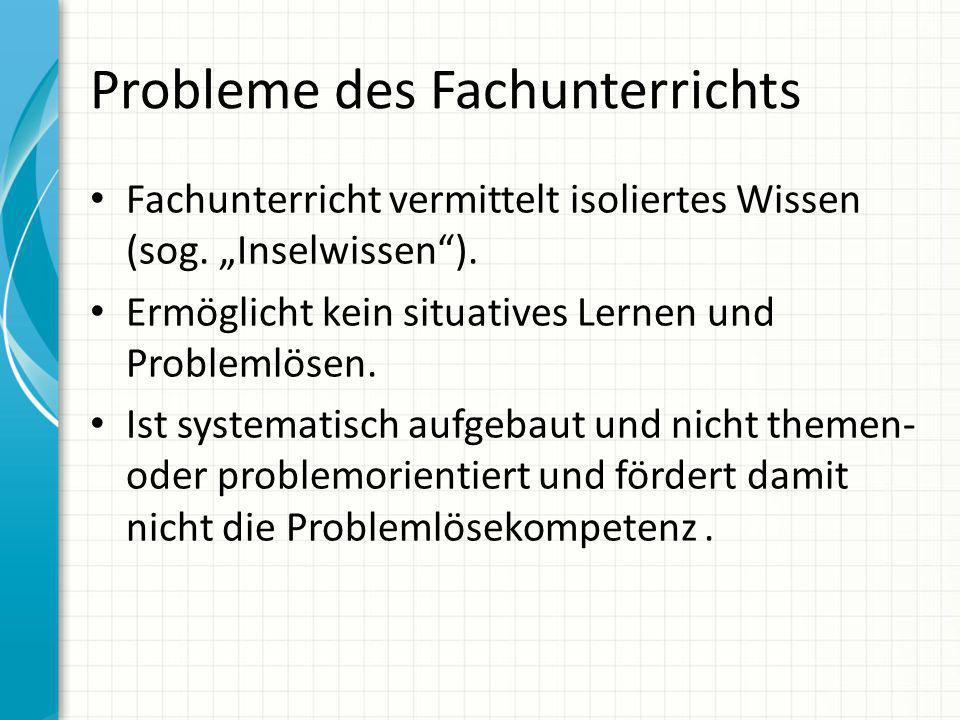Probleme des Fachunterrichts