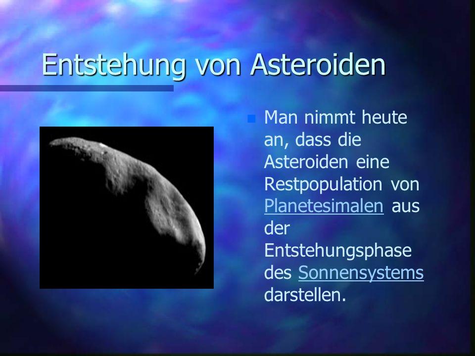 Entstehung von Asteroiden