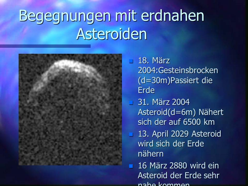 Begegnungen mit erdnahen Asteroiden