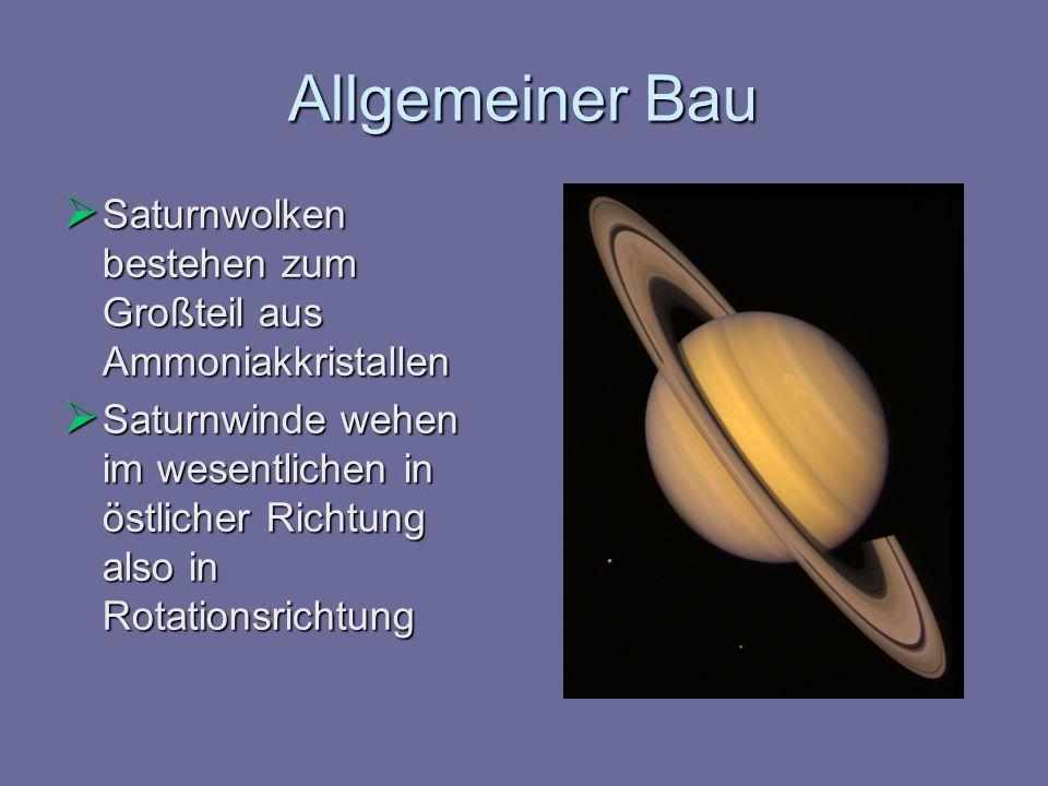 Allgemeiner Bau Saturnwolken bestehen zum Großteil aus Ammoniakkristallen.