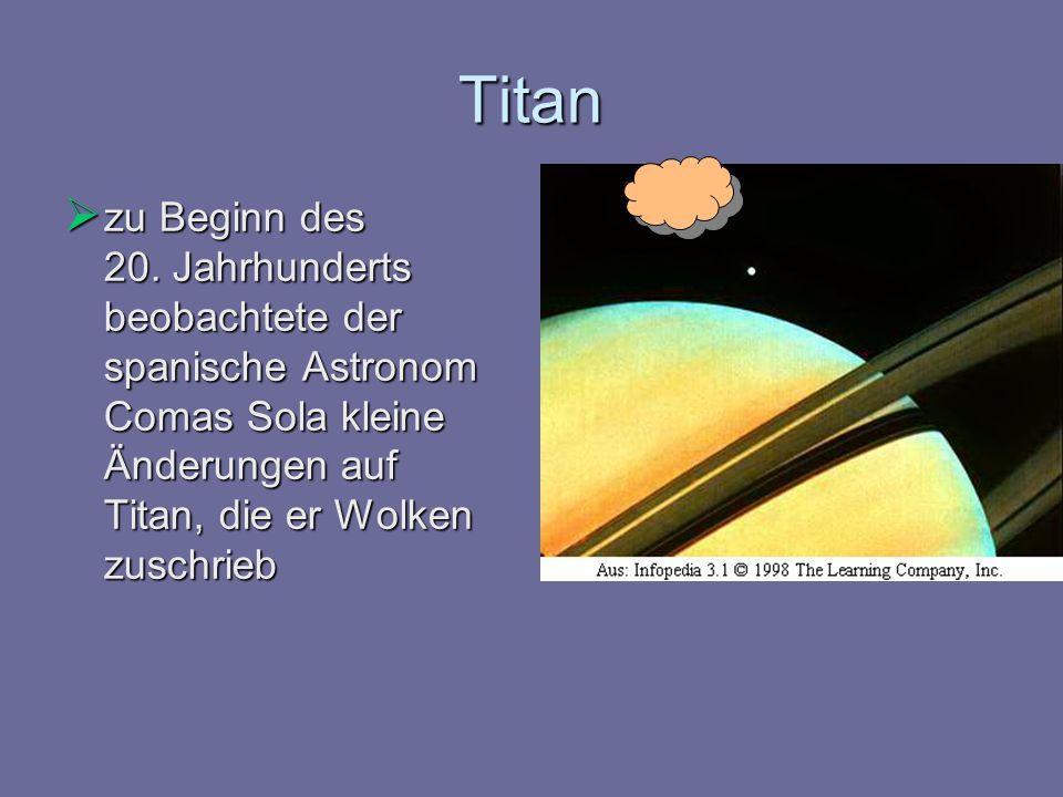 Titan zu Beginn des 20.