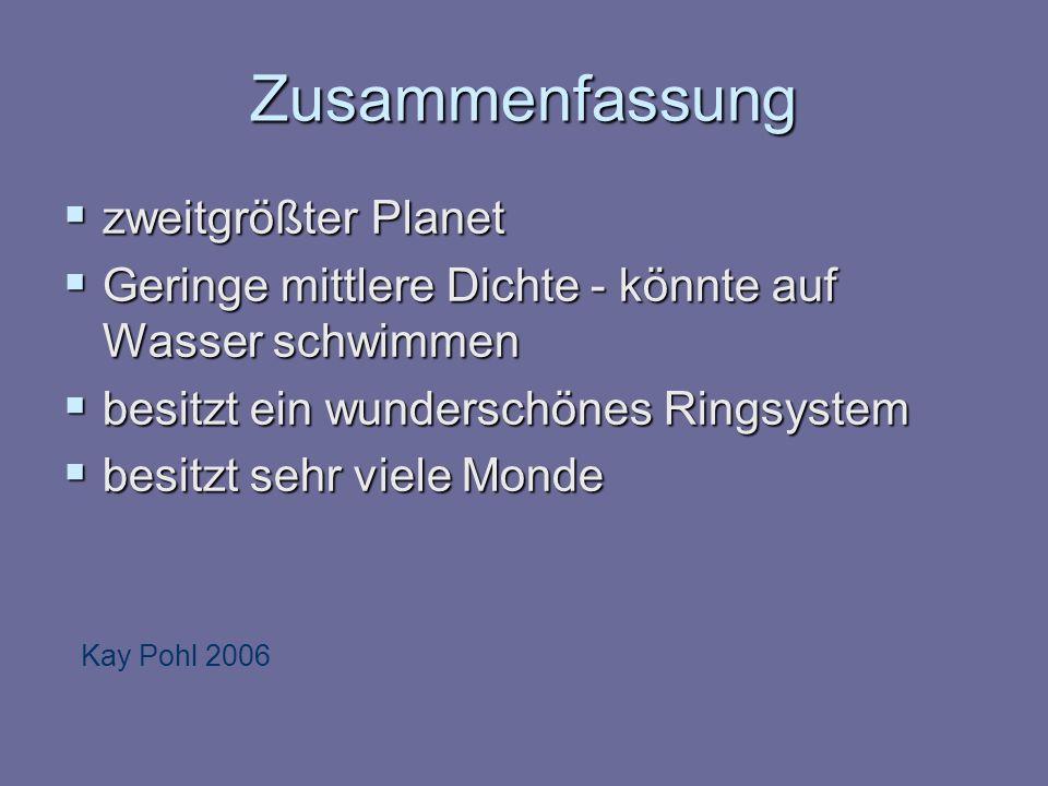 Zusammenfassung zweitgrößter Planet