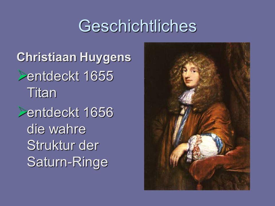 Geschichtliches entdeckt 1655 Titan