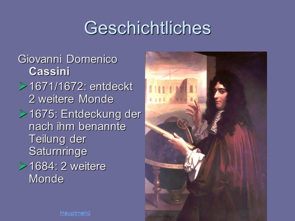 Geschichtliches Giovanni Domenico Cassini