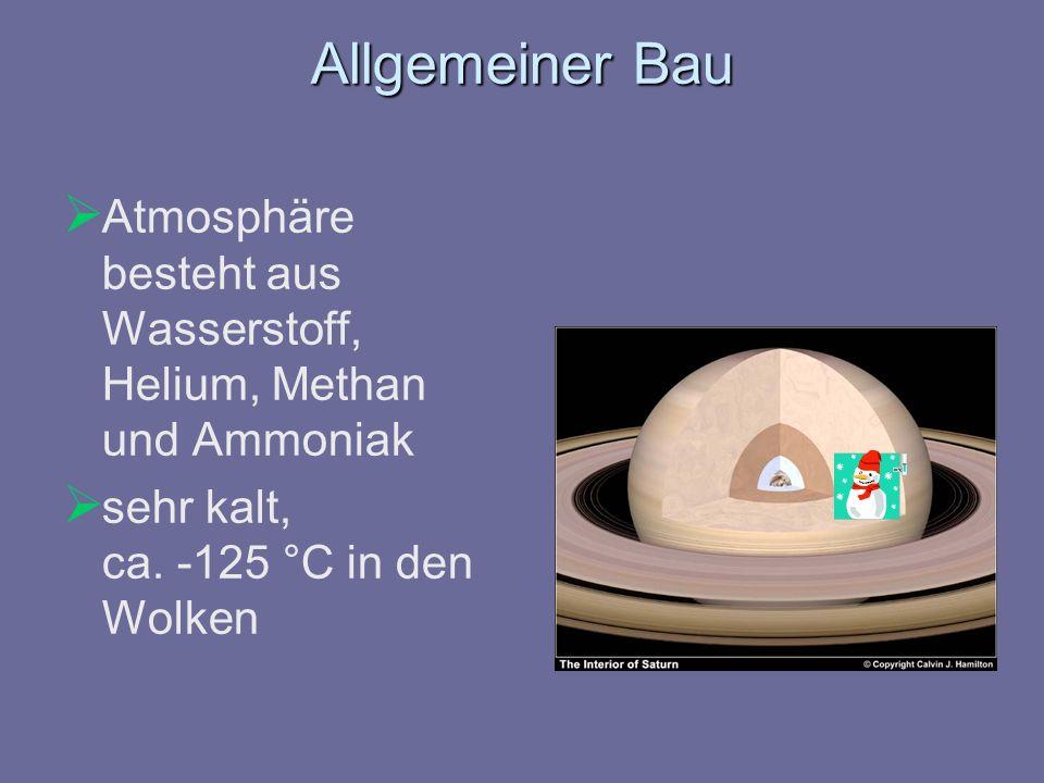 Allgemeiner Bau Atmosphäre besteht aus Wasserstoff, Helium, Methan und Ammoniak.