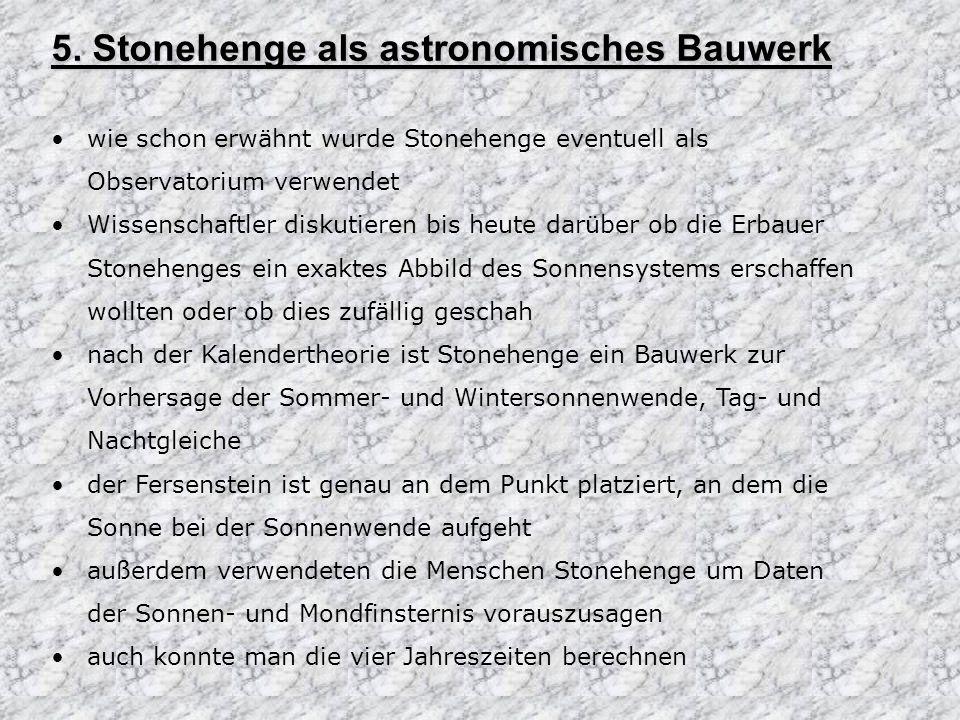 5. Stonehenge als astronomisches Bauwerk