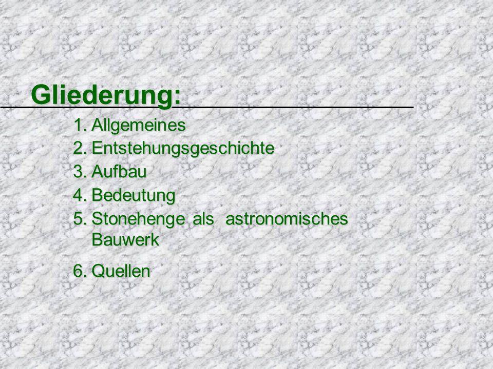 Gliederung: Allgemeines Entstehungsgeschichte Aufbau Bedeutung