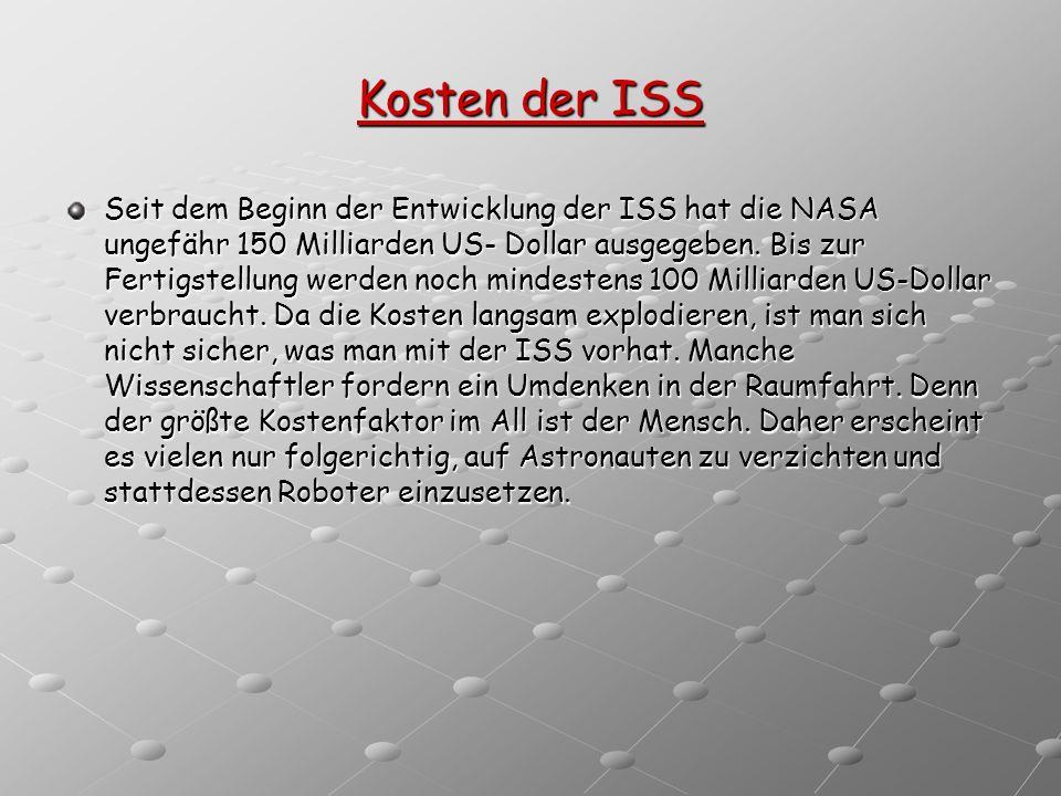 Kosten der ISS