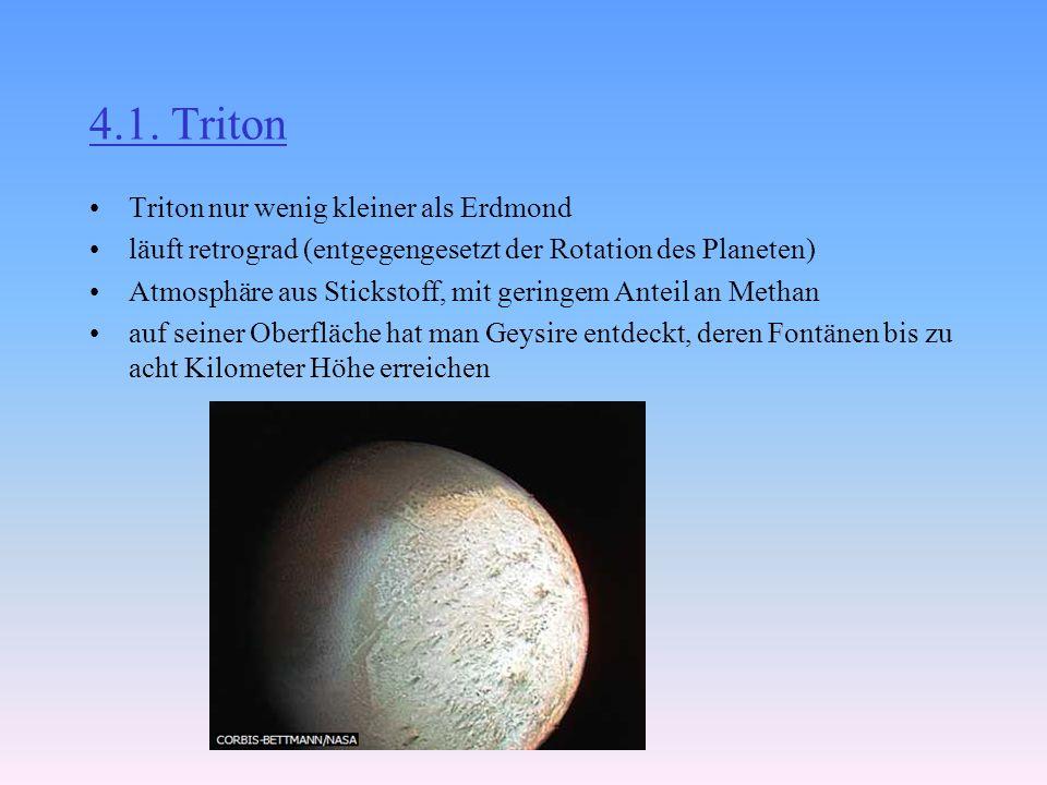 4.1. Triton Triton nur wenig kleiner als Erdmond